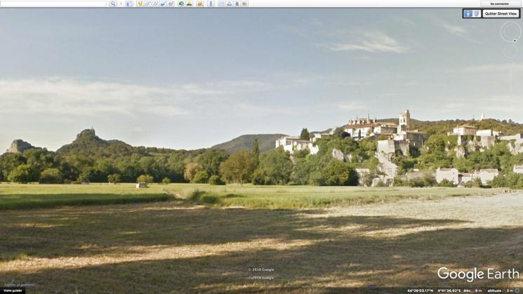 Viviers, Google Earth