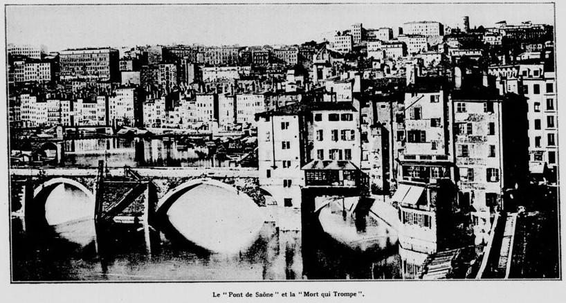 Lyon: Le pont au Change sur la Saône
