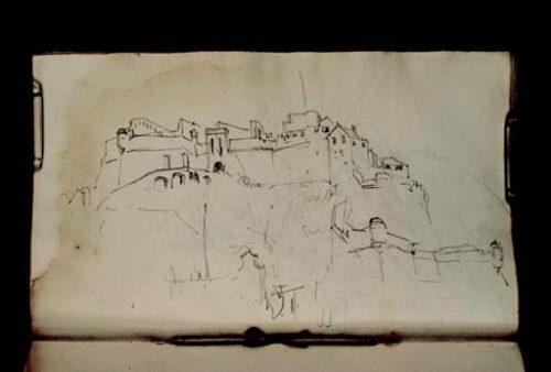 William Turner La forteresse de Castel Franco à Finale Ligure, Italie, 1838 (?)