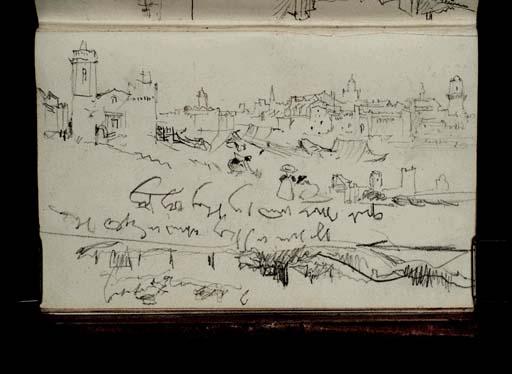 William Turner (1838): Arles et le Rhône vus de Trinquetaille, envers: profil transversal schématique du Rhône à Beaucaire-Tarascon Tate gallery D20969 CCXCV-34a CC-BY-NC-ND 3.0 (Unported)